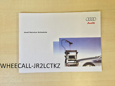 AUDI SERVICE BOOK NEW ALL MODELS PETROL AND DIESEL A1 A2 A3 A4 A5 A6 A8 S2 S3///