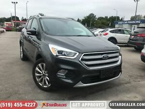 2017 Ford Escape Titanium   1 OWNER   NAV   LEATHER   PANO ROOF