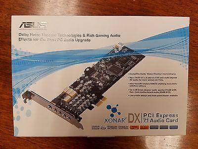 New Sealed In Box Asus Xonar DX PCI Express 7.1 Audio Card