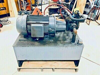 50 Hp Hydraulic Power Unit 70 Gallon Tank Supply Vescor Pump Weg Motor Psi Gpm