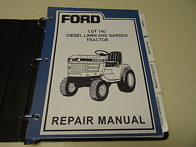 Photo Ford LGT 14D Diesel Lawn Garden Tractor Service Manual Repair Shop Book NEW