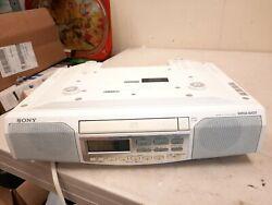 SONY UNDER CABINET DIGITAL MEGA BASS CLOCK RADIO & CD PLAYER ICF-CD513