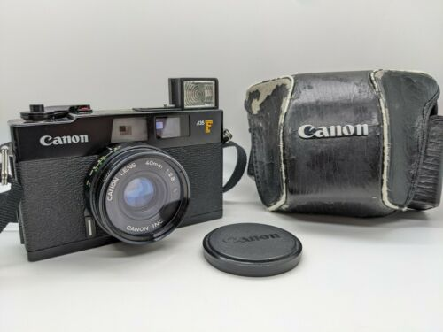 Canon A35F 35mm Rangefinder Film Camera 40mm f2.8 Lens, New Batteries FAST SHIP!