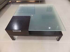 GLASS TOP NICK SCALI COFFEE TABLE Robina Gold Coast South Preview