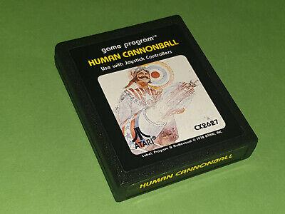 Human Cannonball Atari 2600 VCS Game Cartridge - Atari (Picture Label)