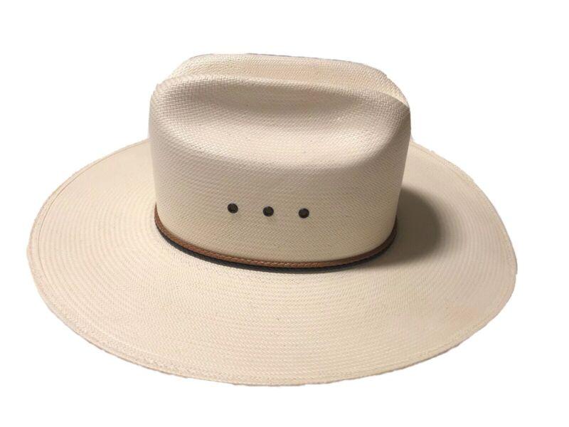 Resistol George Strait Self Conforming Long Straw Natural Cowboy Hat Size 7 1/8
