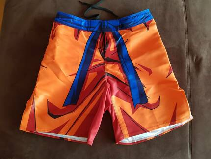 Genuine JustSaiyan Gear - Goku Fight Shorts Large - Dragonball Z