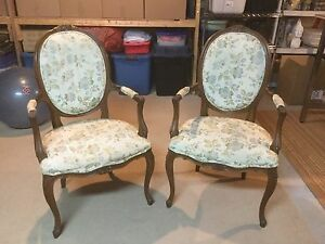 French Country Bergere chairs