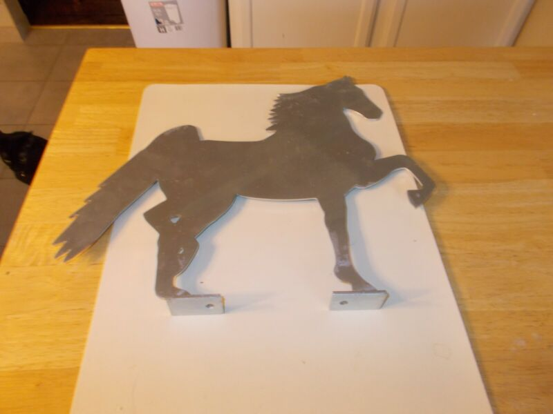 AMERICAN SADDLEBRED WITH DULL SILVER ZINC FINISH MAILBOX TOPPER