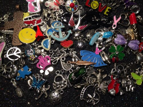 OvEr 100 PiEcEs~ MiXeD ThEMe EnAmEL SiLvER GoLd ChArMs