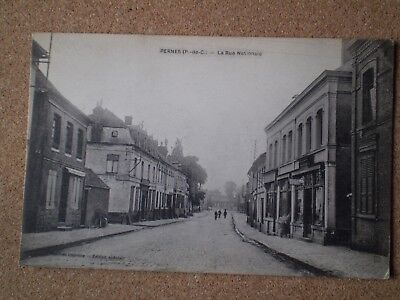 Postcard from Pernes France - sent to London during final days WW1 Censor stamp