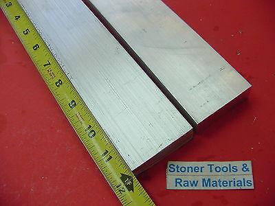 2 Pieces 34x 2 Aluminum 6061 Flat Bar 12 Long T6511 .75 Solid New Mill Stock