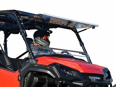 SuperATV Scratch Resistant Flip Windshield for Honda Pioneer 1000 / 1000-5