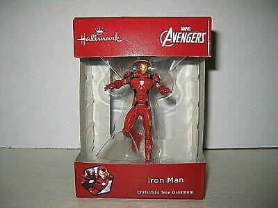 Hallmark AVENGERS IRON MAN Christmas Tree ORNAMENT Cake Topper NIB Free Ship