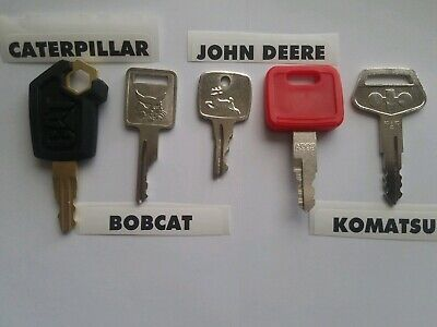 Heavy Equipment Keys 5 Keys Cat Bobcat Case John Deere Ar51481 H800 Komatsu 787