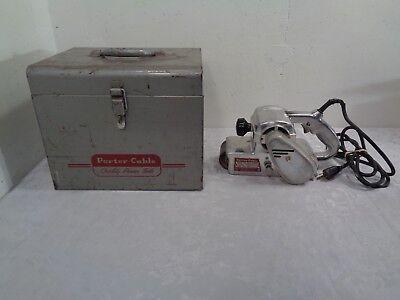 """Vintage Porter Cable 3"""" Belt Sander Model 136 With Steel Storage Box Woodworking"""