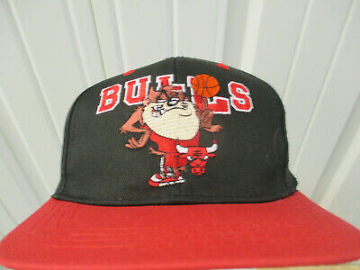 VINTAGE NBA X LOONEY TUNES CHICAGO BULLS Tasmanian Devil SNAPBACK CAP HAT YOUTH