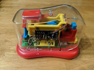 Swingline 211xx Clear Transparent Electronic Stapler Battery Operated