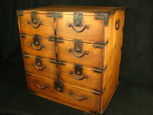 ANTIQUE JAPANESE LATE EDO ERA (c. 1840) 7 DRAWER FUNA-DANSU SHIP
