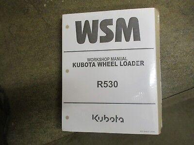Kubota R530 R 530 Wheel Loader Service Repair Manual