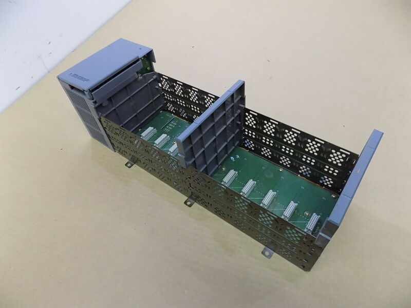 Used Allen Bradley Slc-500 10-slot Rack With Power Supply / 1746-a10 & 1746-p3