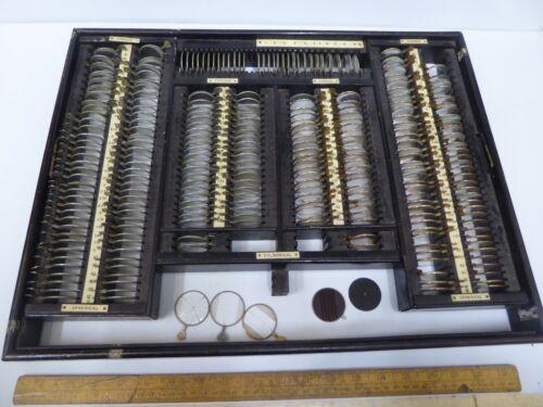 Set of Antique / Vintage Opticians Trial Lenses /Eye Testing set.Over 250 lenses