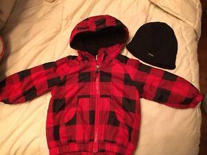Manteau automne 6-12 mois avec tuque