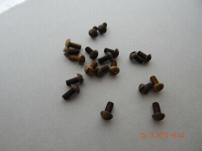 Brass Round Head Slotted Machine Screws 1032 X 38 30 Pcs. New-nos