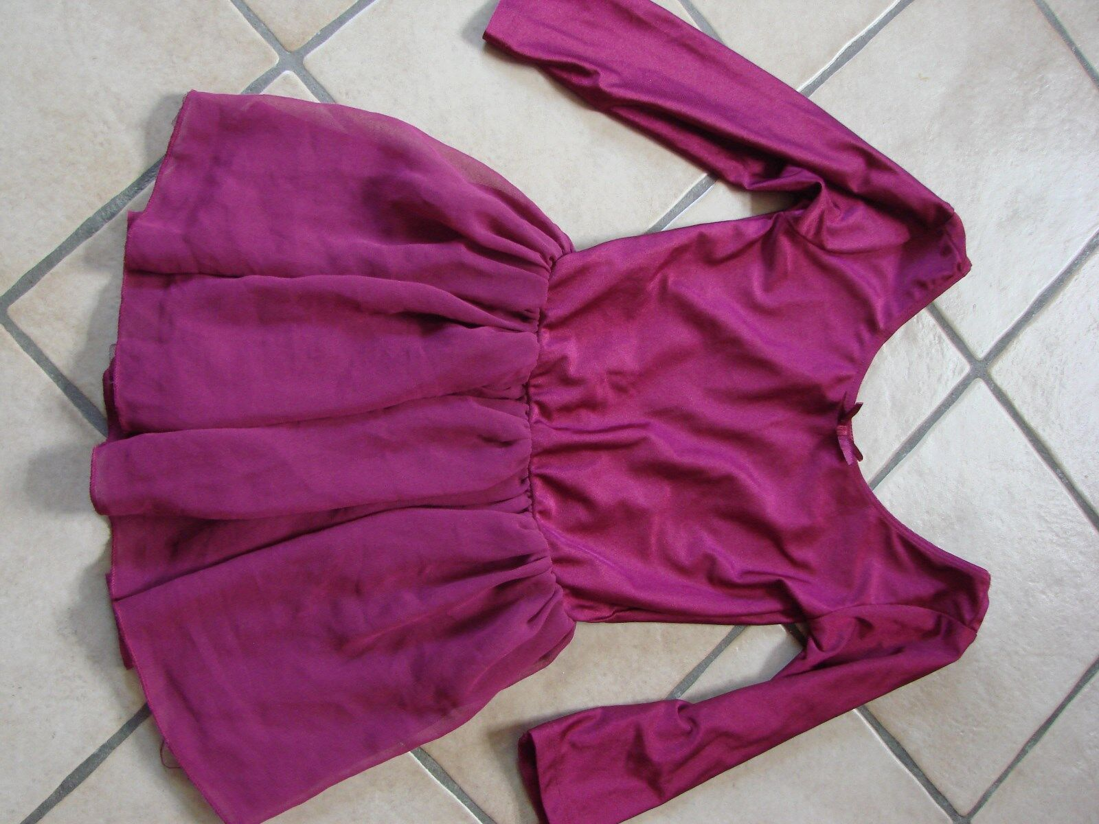 Tanzkleid Kleid Größe 122 gut erhalten H&M 3/4 Arm