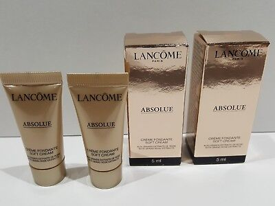 Lancome Lot Of 2 Absolue Soft Cream With Grand Rose Extracts 0.17 Oz (Grand Rose)