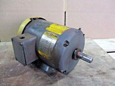 Baldor 1 Hp Motor Fr 143t Rpm 1725 Ph 3 314742j Used
