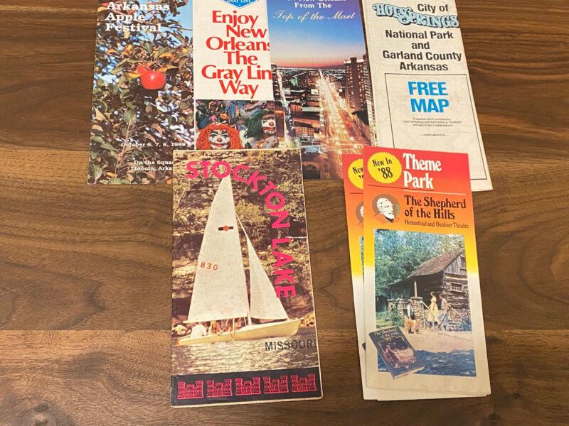 Vintage Tourist Brochures, Missouri, Arkansas, Louisiana, 1970