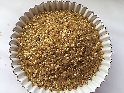Cupcake Sprinkles (Edible Gold Sprinkles Pearlized Sugar Crystal Cake Decorations cupcake)