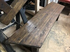 Wood bench Butcher block style