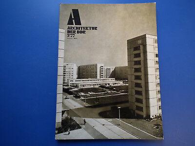 DDR Zeitschrift-Architektur der DDR Heft -5/1977-Berlin-Lößnitz-Magdeburg Nord
