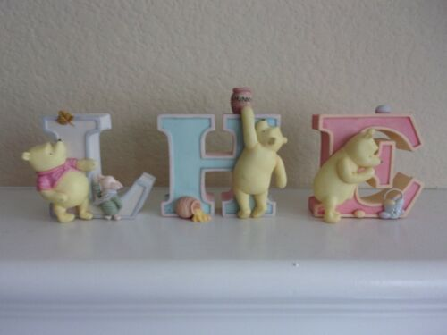 One Disney Pooh Resin Alphabet Wall Plaque Letter by Michel-Choice of H, E, or L