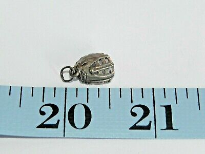 Sterling Silver 3-D BaseBall Catcher's Mitt Charm