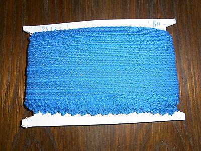 (0,30€/m) blaue Borte, Höhe ca. 1,5cm 50m auf einer Pappe OPEW