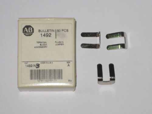 Allen Bradley terminal side jumper 1492-N3 new accessory qty 50 new box