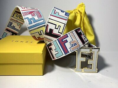 Fendi Belt Multi-color Size 36-40 In.