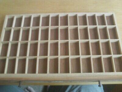 Original, vintage wooden, letterpress  printers tray15.5 x 9.75 inches TINSUK1A