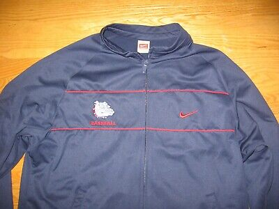 GONZAGA UNIVERSITY GU BULLDOGS NCAA BASEBALL SEWN ON PATCH JACKET BY NIKE XL Gonzaga Bulldogs Jacket