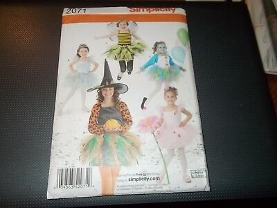 Ballerina Clown Costume (Simplicity COSTUME Pattern 2071 Bee~Ballerina~Clown~Witch~Fairy w/Tutus)