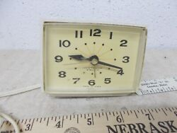 VINTAGE Westclox electric alarm clock Mid Century USA Made lighted dial Bold II