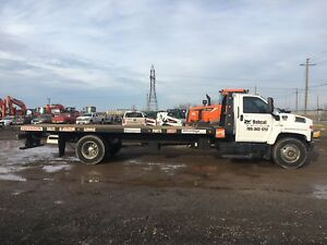 2008 GMC C7500 Diesel 26ft Roll Back Flat Bed
