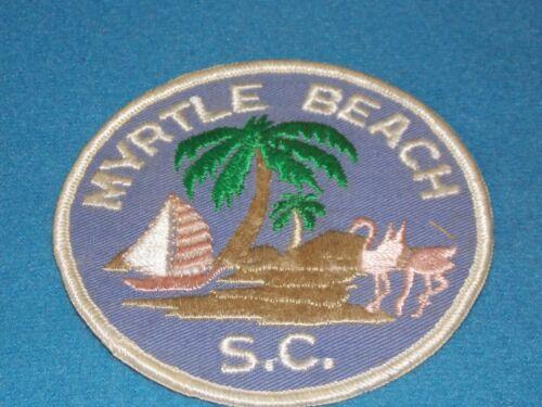 Vintage - Myrtle Beach South CarolinaTravel Patch - 4 INCH - MINT