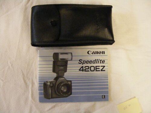 Vintage Canon Speedlite 420EZ Shoe Mount Flash for  Canon