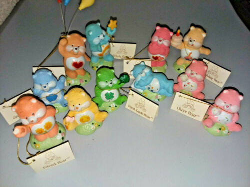Set of 11 Ceramic Care Bears, Designers Collection 1983 American Greetings