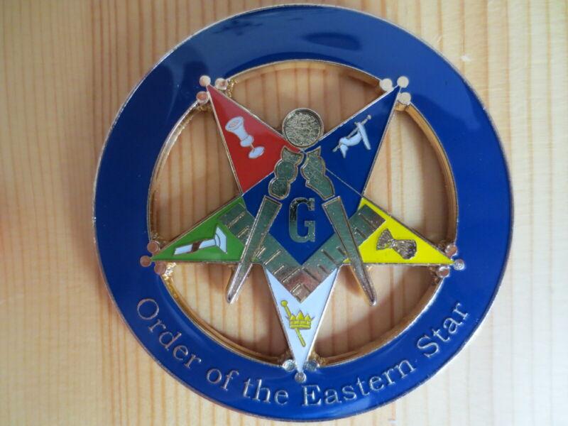 Masonic Auto Car Badge Emblems mason freemason E24 Order of the Eastern Star