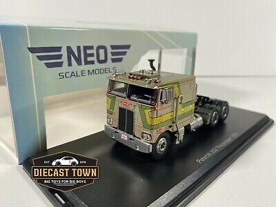1/64 NEO Scale Models 1979 Peterbilt 352 Pacemaker Gold Metallic Green NEO064043